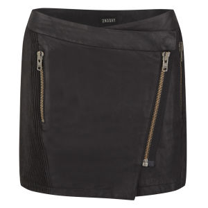 2nd Day Women's Zip Leather Skirt - Black