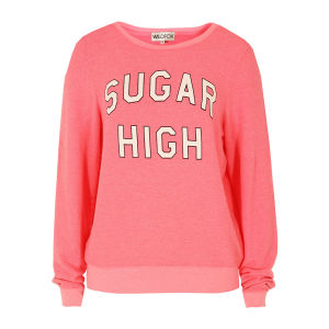 Wildfox Women's Sugar High Sweat - Bel Air Pink
