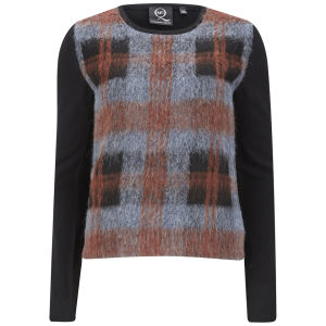 McQ Alexander McQueen Women's Checked Knit Jumper - Black