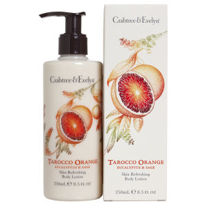 Crabtree & Evelyn Lotion hydratante pour le corps Orange sanguine, Tarocco, eucalyptus et sauge (250ml)