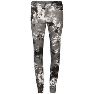 2nd One Women's Black Smoke Printed Jeans - Black