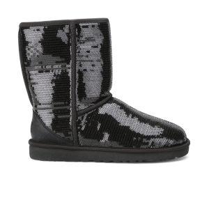 UGG Australia Women's Classic Short Sparkles Boots - Black