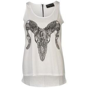 Damned Delux Women's Paisley Ram Vest - White