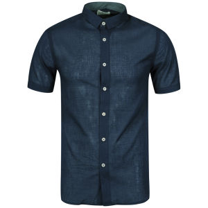 Boxfresh Men's Calixte Short Sleeved Shirt - Navy