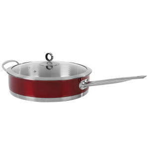 Morphy Richards Accents 28cm Saute Pan with Glass Lid - Red
