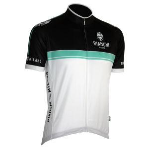 Bianchi Monreale Short Sleeve Jersey - White/Celeste