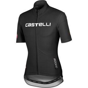 Castelli Gabba Windstopper Jersey - Black/Reflective Silver