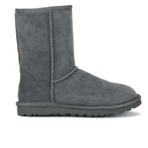 UGG Australia Women's Classic Short Sheepskin Boots - Grey