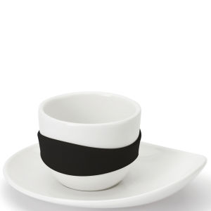 Po Leaf Espresso Cups Set of 4 - Black