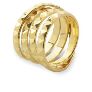Daisy Knights Stud Wrap Ring - Gold