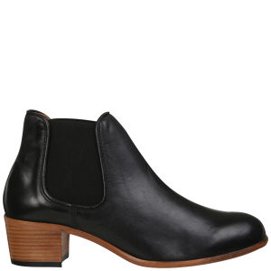 H by Hudson Women's Bronte Calf Leather Chelsea Boots - Black