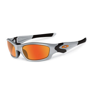 Oakley Men's Straight Jacket Iridium Sunglasses - Silver