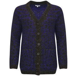 Surface to Air Lexia Cardigan V1 - Melange Black/Anthracite Violet Blue
