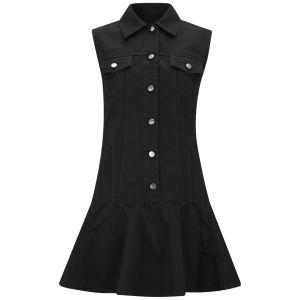 McQ Alexander McQueen Women's Denim Ruffle Dress - Black