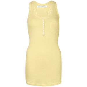 Brave Soul Women's Pocket and Button Detail Vest - Yellow