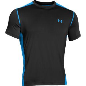 Under Armour Men's Max Vent Short Sleeve T-Shirt - Black/Electric Blue