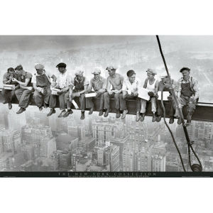 New York Men on Girder - Maxi Poster - 61 x 91.5cm