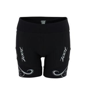 Zoot Women's Ultra Run Biowrap 6 Inch Shorts - Black/Silver