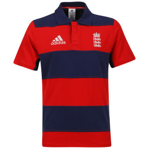 Adidas Men's England 3 Lions Short Sleeved Polo - Red/Navy