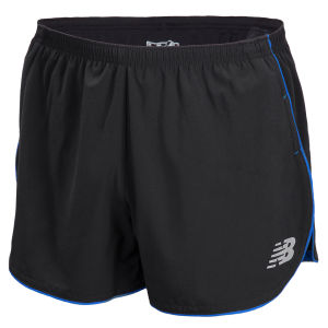 New Balance Men's NBX Boylston 3 Inch Split Running Shorts - Black