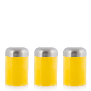 Cook In Colour Set of 3 Dome Canisters - Yellow