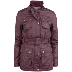 Le Breve Women's Sidney Lightweight Jacket - Burgundy