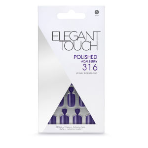 Elegant Touch Polished Nails - Acai Berry