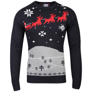 Christmas Branding December Knitted Jumper - Dark Navy