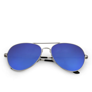 Eyecatcher Women's Reflective Aviator Sunglasses - Dark Blue