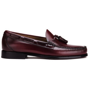 Bass Weejuns Men's Larkin Moc Leather Tassel Loafers - Wine