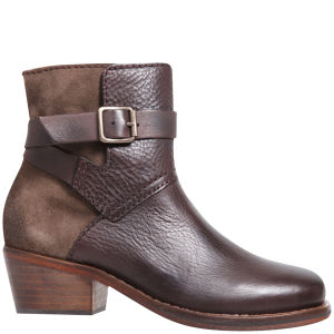 H Shoes by Hudson Women's Daytona Suede Buckle Boots - Brown