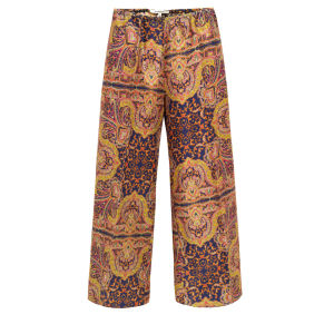 Carven Women's 260-P12 Shantung Print Trousers - Ink