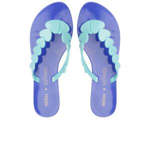 Melissa Women's Salinas Heart Flip Flops - Turquoise