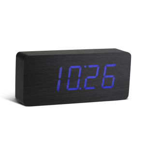 Slab Black Click Clock