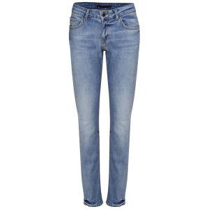 Victoria Beckham Women's Mid Rise Boyfriend Woven Jeans - Faded Blue