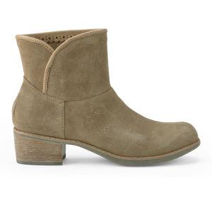 UGG Australia Women's Darling Suede Heeled Ankle Boots - Chestnut
