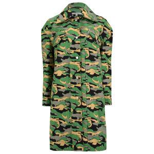 Carven Women's Camouflage Long Coat - Khaki