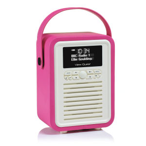 View Quest Retro Mini Bluetooth DAB+ Radio - Hot Pink