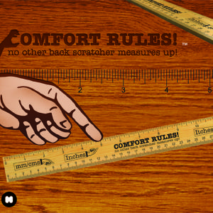 Comfort Rules Backscratcher Ruler