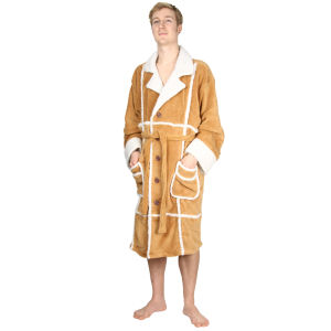 Only Fools and Horses Adult Fleece Bathrobe - Tan (One Size)