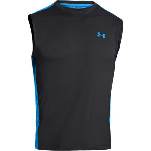 Under Armour Men's Max Vent Sleeveless Training T-Shirt - Black/Electric Blue