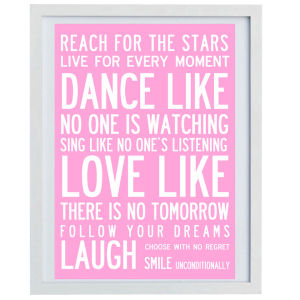 I Love Design 'Dance' Canvas - Pink