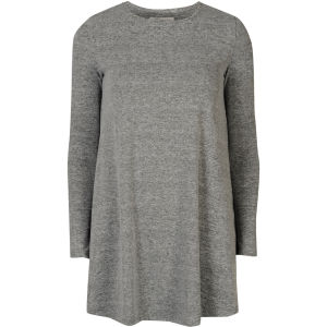 Glamorous Women's Long Sleeve Swing Dress - Grey