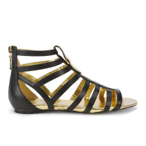 Ted Baker Women's Fiachu Leather Gladiator Sandals - Black Leather