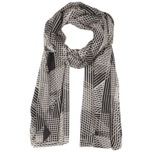 Vero Moda Women's Hannelore Long Scarf - Black/White Aspa