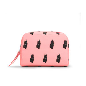 Marc by Marc Jacobs Bunny Print Large Cosmetic Pouch - Fluoro Coral