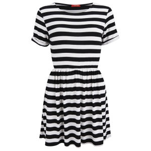 Influence Women's Striped Dress - Black