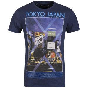 Conspiracy Men's Tokyo Printed T-Shirt - Navy