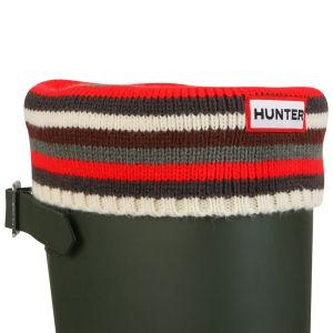 Hunter Unisex Striped Cuff Welly Socks - Multi Monochrome