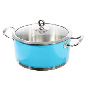 Morphy Richards Accents 24cm Casserole Dish - Blue